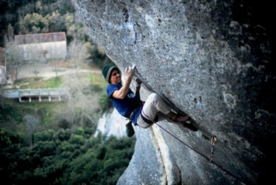 1996, Rêve du Papillion. Buoux, one of my first routes graded 8a.