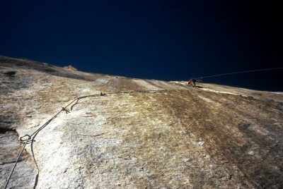 "1998. ""The American Zone pitch""on  Aurora, A4, El Cap. Ph: Ian Parnell"