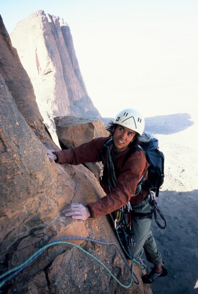 2005. Climbing the classic south pillar on Kaga Tondo with Jonas Paulsson