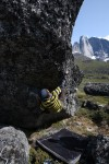 Bouldering in the Tasermiut Fjord, South Greenland