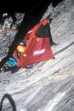 Portaledge camp on pitch 11
