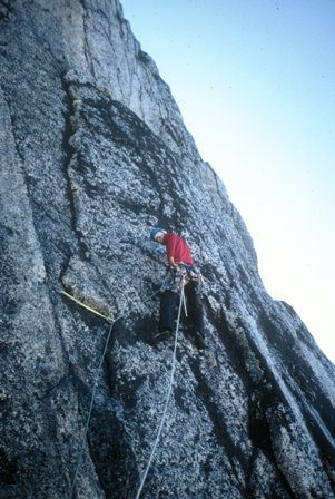 Björn Krane finding a line towards the summit