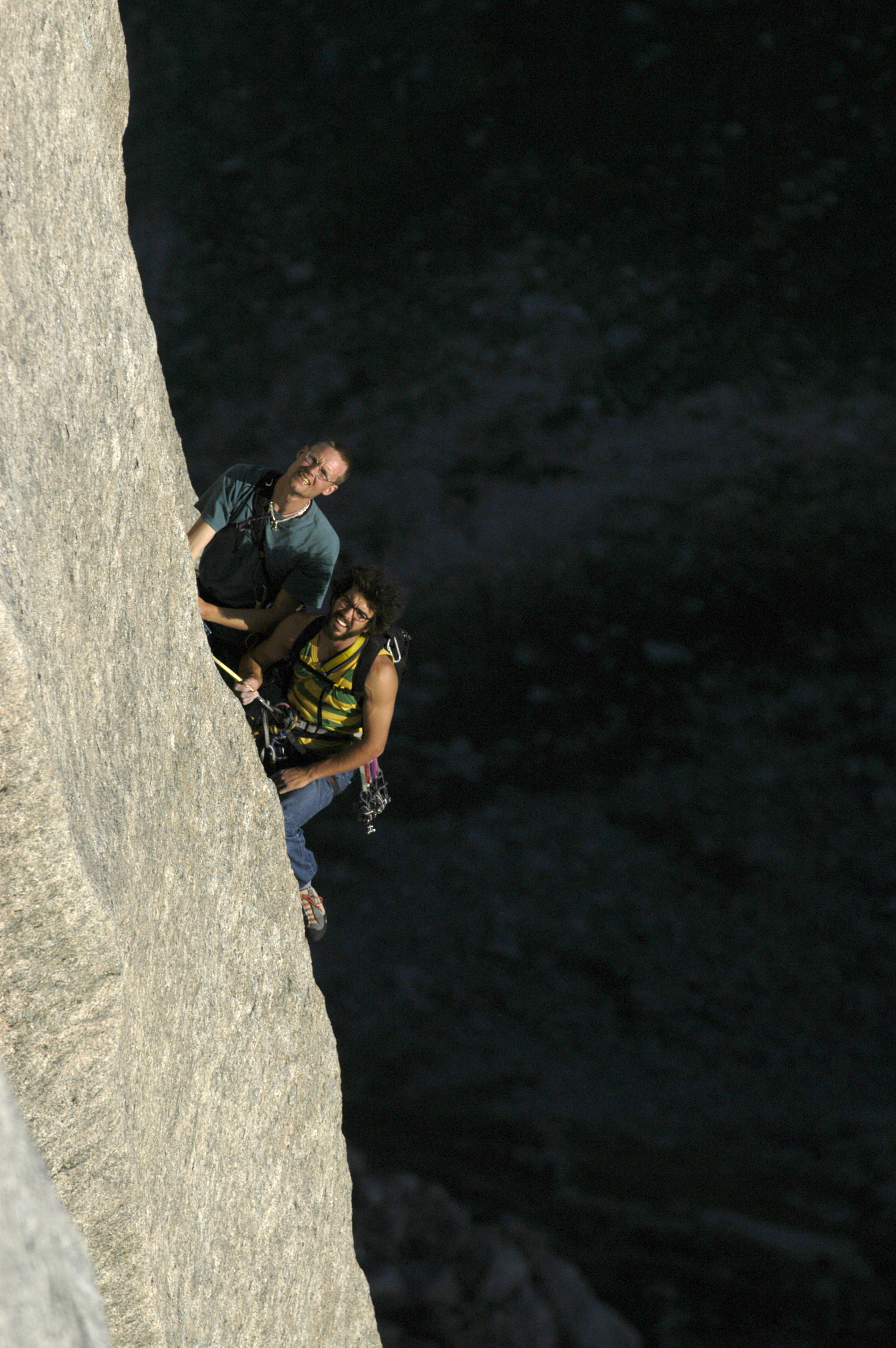 Mårter Blixt and I at the belay under the crux pitch of Thanathos